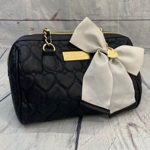 Betsey Johnson quilted leather chain purse